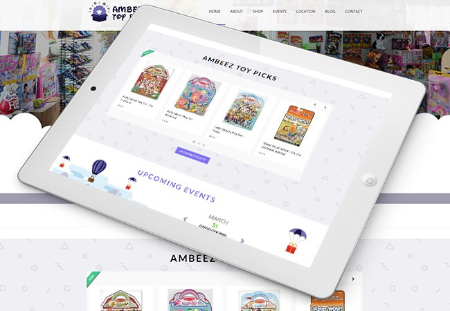 Ambeez Toy Store Web Design Example