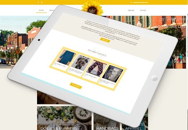 Sunflower Hollow Web Design Example