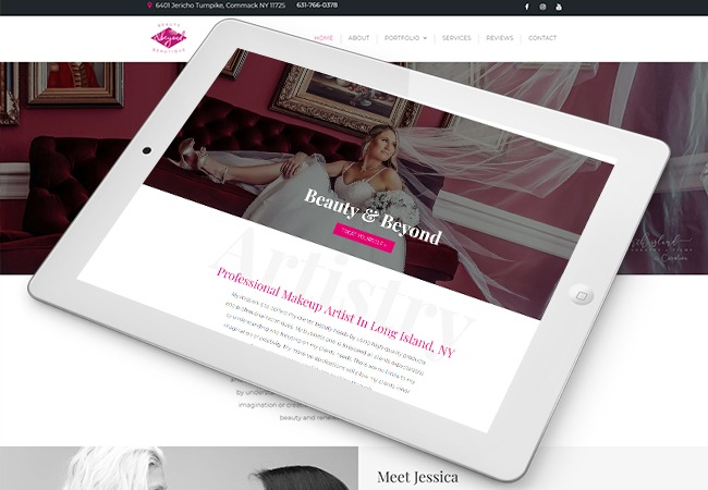 Beauty and Beyond Web Design Example